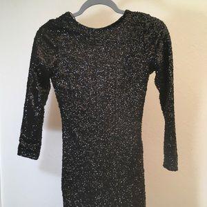H&M Divided Black Sequin Mini Dress